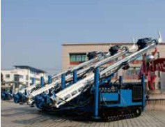 Multi-function Drilling Rig of  Drilling Depth 250 meters Track Mounted with 150mm-300mm Drilling Diameter
